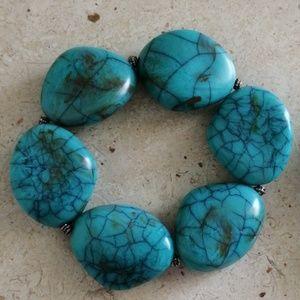 Two Turquoise Stone Bracelets